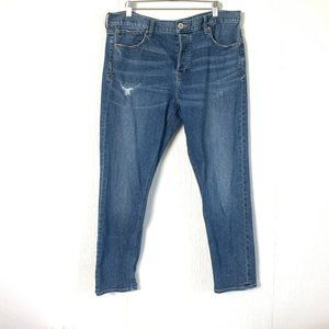 Express Vintage Skinny Mid Rise Button Fly Jean 12